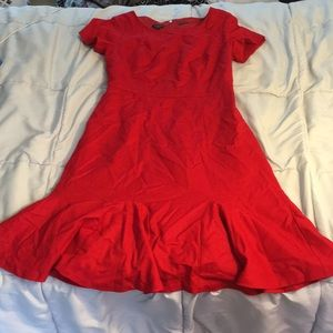 Red dress by Talbots
